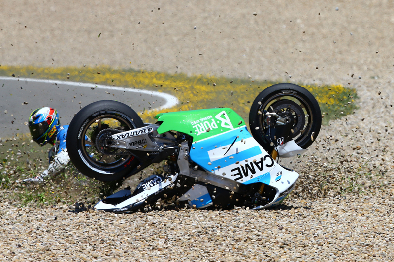 4SR MotoGP Pesek Czech crash 2